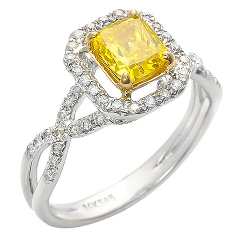 canary engagement rings ideal weddings