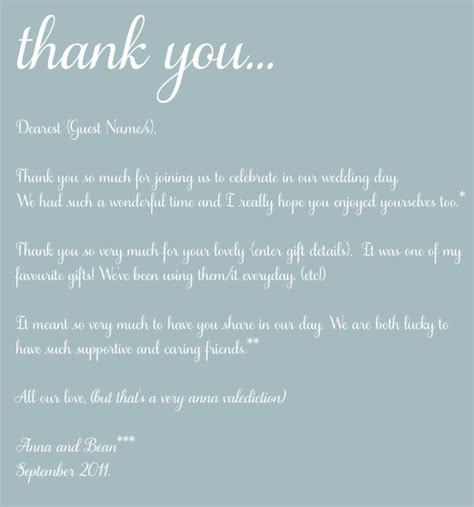 Wording For Wedding Thank You Cards Parents 4 Going To