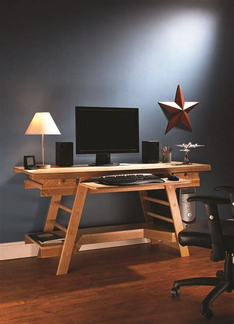 Computer In Desk Build How To Build A Desk A Free Ebook Popular Woodworking Magazine