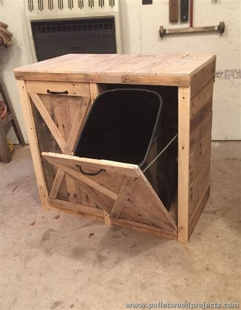 Kitchen Island With Garbage Bin Ideas For Wooden Pallet Recycling Pallet Wood Projects