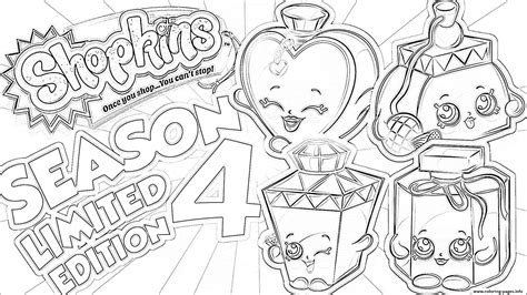 Shopkins Season 4 Limited Edition Coloring Pages Printable Shopkins Season 4 Coloring Pages