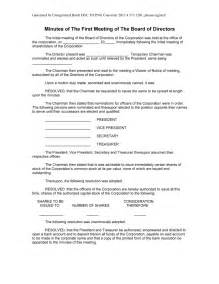 corporation meeting minutes free printable documents
