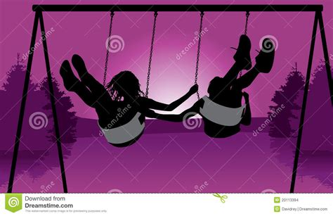 swinging with friends video friends swinging at sunset stock images image 20113394