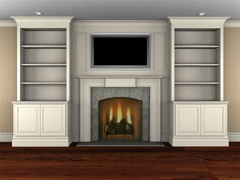 fireplace bookcase on pasadena real estate