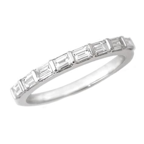 wedding bands with baguettes baguette wedding bands from mdc diamonds