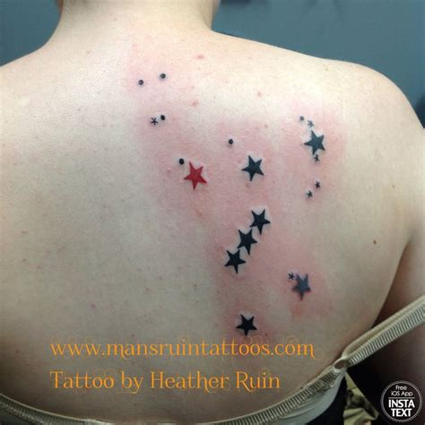 orion constellation tattoo constellation by ruin at mans ruin