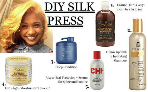 how to achieve the diy silk press