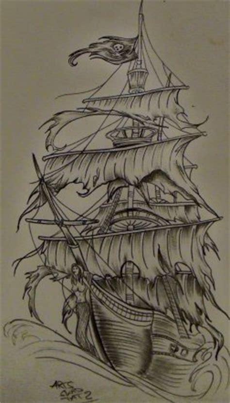 dessin bateau pirate tatouage tatouage dos navire pirate blog de arts skad tattoo