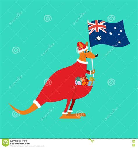 santa australia australian kangaroo claus wallaby in