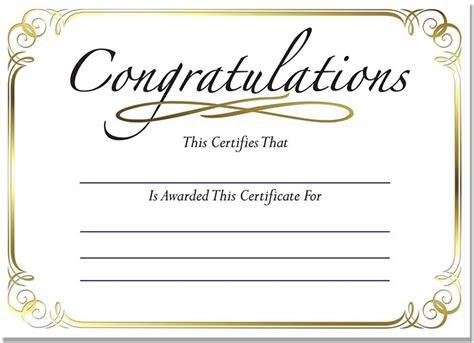 congratulations certificate mini gold foil certificates congratulations foil certificate