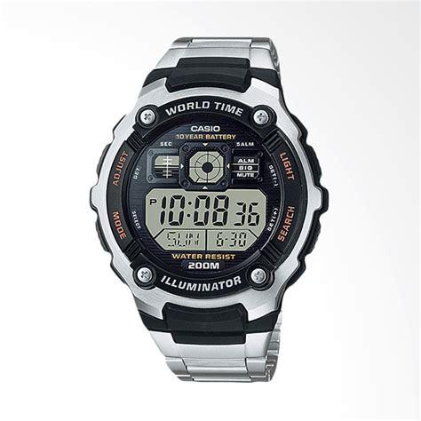 Jam Tangan Pria Casio Ae 2000wd 1avdf Murah Original Garansi 1 Tahun jual casio jam tangan pria black silver ae 2000wd 1avdf