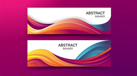 banner vector abstract  adobe illustrator youtube