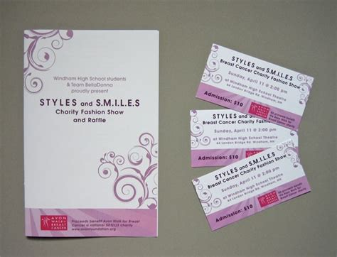 Fashion Show Ticket Template by Fashion Show Program Ideas Images