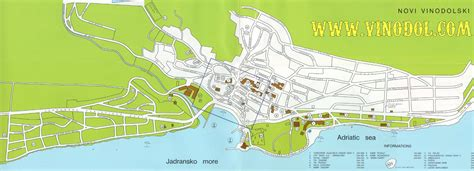 novi vinodolski street map novi vinodolski croatia mappery