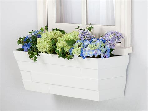 vinyl window flower boxes 36 quot breckenridge fiberglass and vinyl window boxes