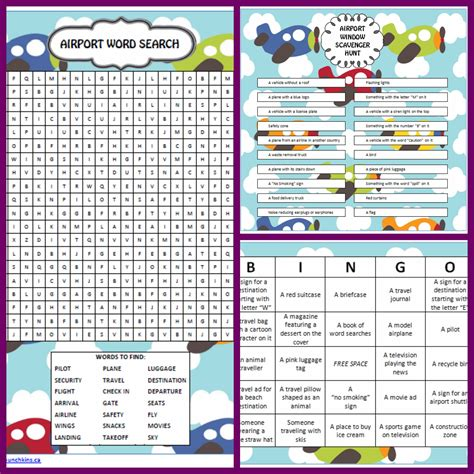 printable games to play on a plane games to play at the airport word search free