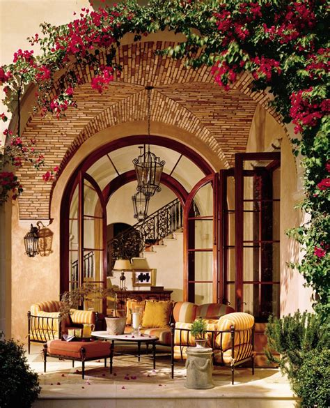 In addition mexican hacienda style patio as well two tier kitchen