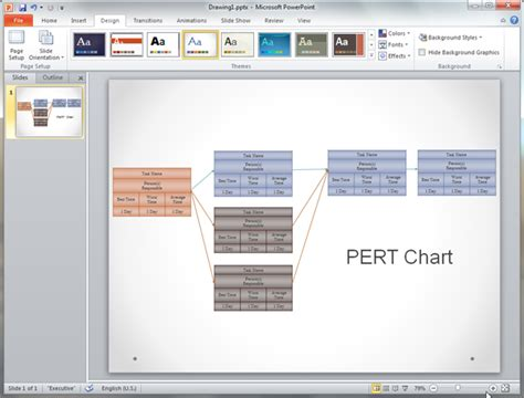 pert chart template pert chart templates for powerpoint