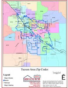 Tucson Arizona Zip Code Map by Tucson Real Estate Key Partners At Realty Executives