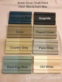 decor amore my annie sloan chalk paint 174 color boards