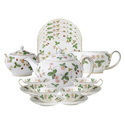 Set Strawberry wedgwood collection strawberry bone china tea set