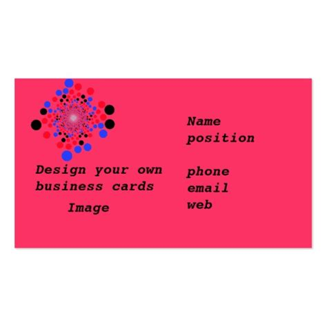 Design My Own 4x8 Card Template by Business Cards Design Your Own Zazzle