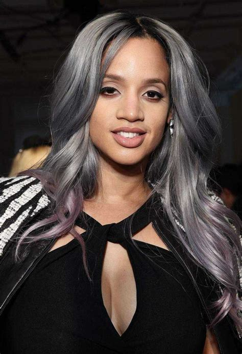 salt and pepper hair with lilac tips coiffure cheveux longs et couleurs 2015 70 id 233 es tendance