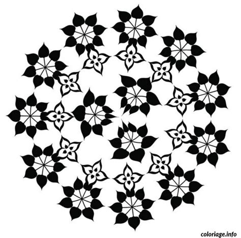 Coloriage Mandala Fleur 2 Dessin
