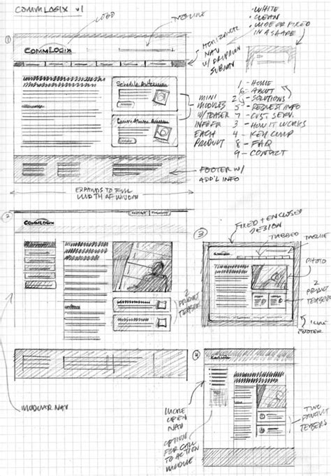 Sketches And Wireframes by 24 Professional Exles Of Web And Mobile Wireframe