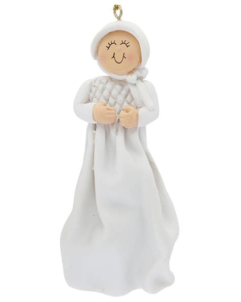 baptism or christening girl christmas ornament religious