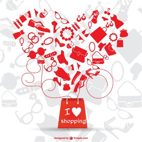 image gallery i love shopping icons love shopping vector graphic vector free download