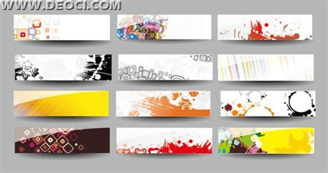 website banner design templates 12 web banner advertising creative design template background ai file free deoci