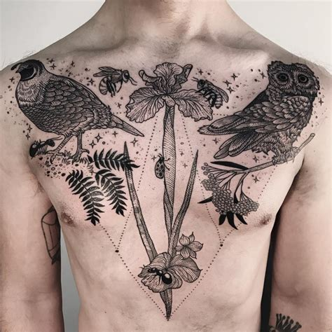 animal chest tattoos 53 jaw dropping chest tattoos for tattoomagz