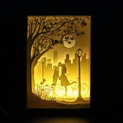 Paper Cut Light Box by Silhouette Moon Paper Cut Light Box Light By