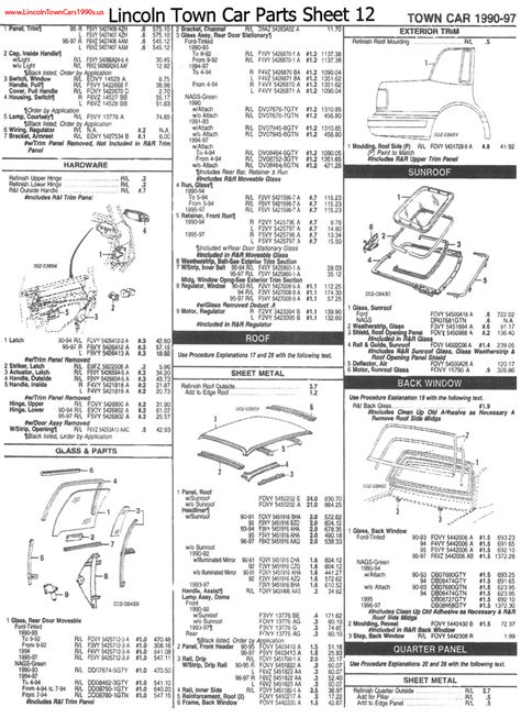 free download parts manuals 2004 lincoln town car engine control lincoln town car parts sheets page twelve