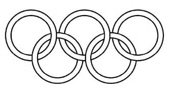 olympic rings black and white