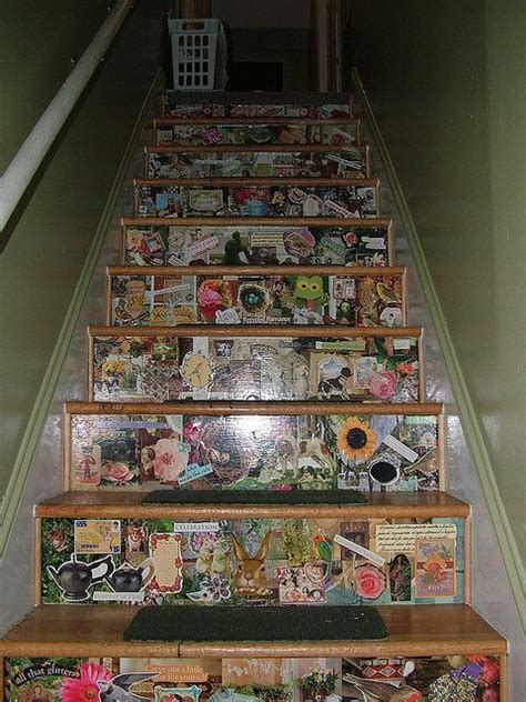 decoupage stairs decoupage stairs craft ideas