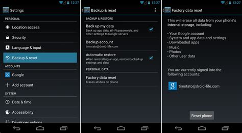 how to wipe android phone how to factory reset your phone beginners guide droid