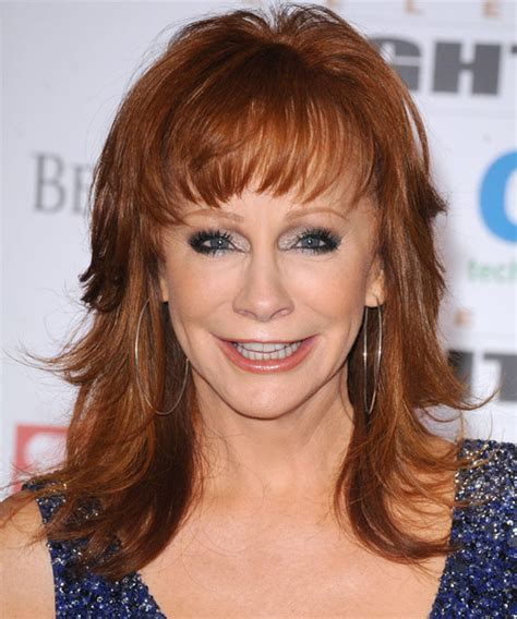 backside view of reba mcetires hair reba mcentire long straight formal hairstyle with layered