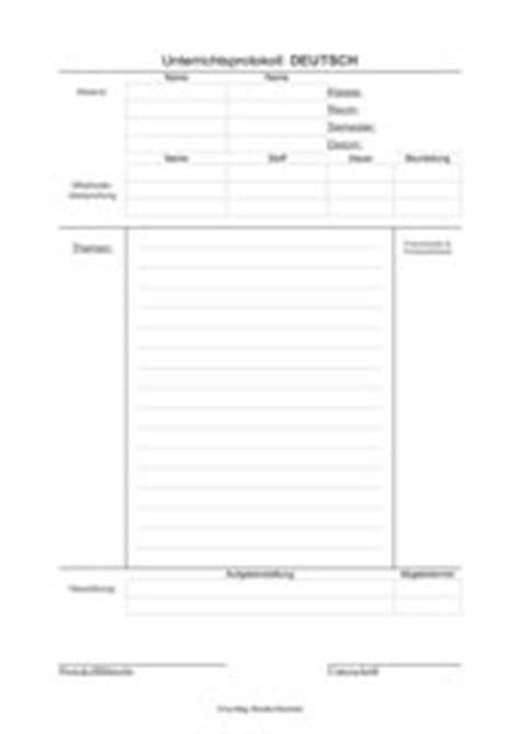 Unterrichtsprotokoll Schreiben Muster 4teachers Lehrproben Unterrichtsentw 252 Rfe Und Unterrichtsmaterial F 252 R Lehrer Und Referendare