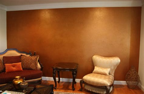What Of Paint Finish For Living Room by Metallic Multi Colored Accent Wall Classic Fauxs Finishes