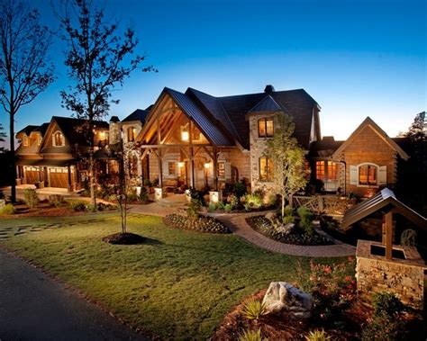 rustic contemporary homes wild turkey lodge traditional exterior atlanta by
