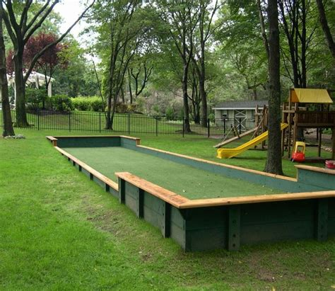 backyard bocce bocce ball court bocca ball pinterest