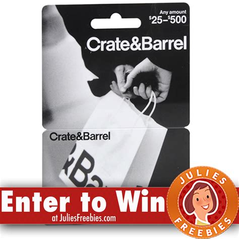 Can You Use Crate And Barrel Gift Card At Cb2 - win a 5 000 crate and barrel gift card freebies list freebies by mail free