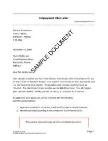 employment offer letter canada templates