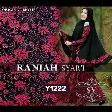 Laris Baju Busana Muslim Gamis Amelia Syari Bergo No Ped baju muslim syari raniah premium y1222 model gamis modern