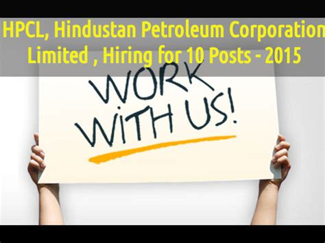 Hindustan Petroleum Corporation Limited Recruitment 2015 For Mba by Hpcl Hindustan Petroleum Corporation Limited Hiring For