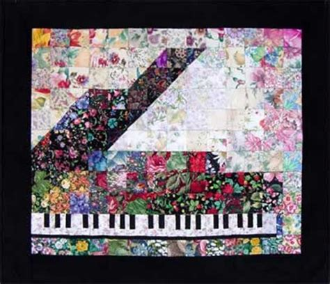 Piano Quilt Pattern by Piano Watercolor Quilt Kit Quilting Annthegran