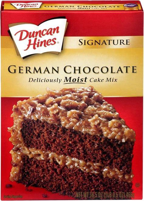 Chocolate Cake Mix duncan hines german chocolate cake mix brownies