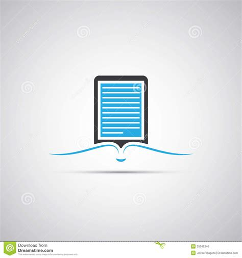 Ebook Format With Illustrations   e book reader icon design stock vector image of grey